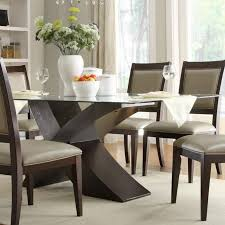 dining room table modern glass top dining table design