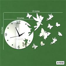 Home Decor Stores Online Canada Wall Clock Mirror Wall Clock Uk Generic Crystal 3d Mirror Wall