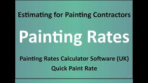 estimating for painters painting rates painting rates uk youtube