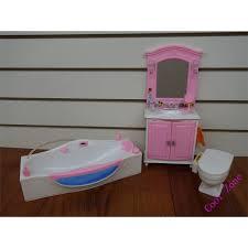 Barbie Dolls House Furniture Aliexpress Com Buy Miniature Bathroom Furniture For Barbie Doll