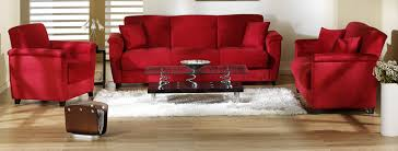Living Room Seating Furniture Staggering Red Living Room Chairs Nice Design Red Microfiber