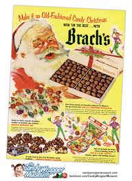 where can i buy brach s chocolate vintage 1950s brach s christmas candy ad the candy wrapper