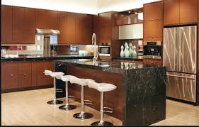 kitchen room elegant wooden wall combined wooden floor it has
