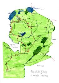 Zambia Map Waterfall Route Luapula And Northern Provinces Travel Zambia