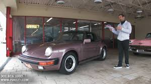 porsche home garage 1988 porsche 911 targa for sale with test drive driving sounds