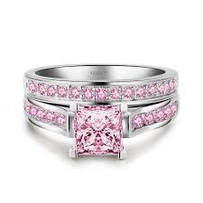 pink wedding rings pink wedding ring 15385
