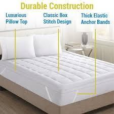 Home Design Classic Mattress Pad Amazon Com Hypoallergenic Polyester Down Alternative Fiber Bed