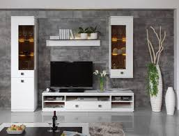 Daiquiri Modern TV Cabinet And Display Units Combination In White - Design wall units for living room