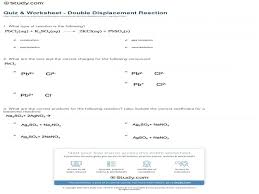 double replacement reaction worksheet phoenixpayday com