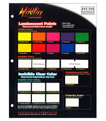 wfsample wildfire blacklight paint chip color sample card