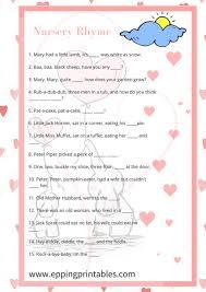 nursery rhyme baby shower pink elephant baby shower nursery rhymes eppingprintables