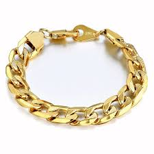 gold link bracelet mens images 11 mm brand male chic chain link bracelet gold color men jewelry jpg