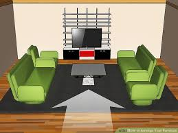 how to measure a sectional sofa how to arrange your furniture with pictures wikihow