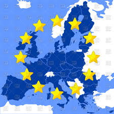 Europe Flag Map by Map Of The European Union Vector Image 115448 U2013 Rfclipart