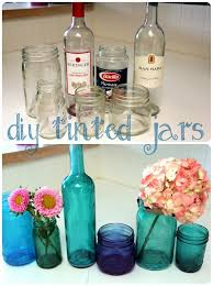 Diy Crafts For Home Decor Pinterest Diy Glass Crafts How To Make Tinted Jars Great For Flower Vases