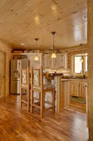 knotty pine cabinets kitchen rustic with cedar granite green