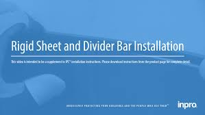 how to install rigid sheet with trim u0026 divider bar inpro youtube