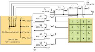 basic circuit eliminates numeric keypad polling electronic design