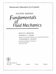 solution manual fundamentals of fluid mechanics 4th edition