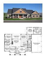 craftsman one story 2800sq ft 4bdrm 3 5bath house plans i like