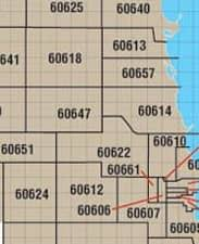 chicago zip code map chicago maps downtown cta neighborhood and chicago maps