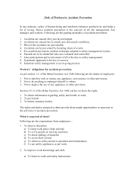 Sample Painter Resume by Role Of Workers In Accident Prevention By B C Das