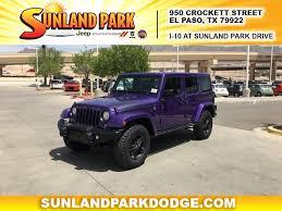 jeep wrangler el paso used car dealer sunland park chrysler jeep dodge ram