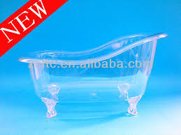 transparent bathtub transparent mini plastic bathtub container for personal care