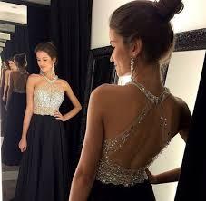 dress prom dress black dress high neck long prom dress
