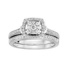 diamond bridal sets i said yes 3 8 ct t w diamond bridal set jcpenney