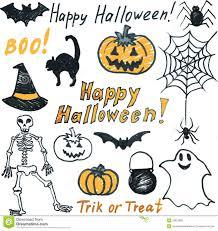 doodle halloween set royalty free stock photo image 33697865