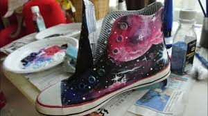 tutorial drawing galaxy canvas shoes youtube