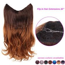 invisible line hair extensions 20 multi color fish line hair wave invisible halo synthetic hair