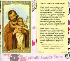 catholic thanksgiving prayers st joseph with novena prayer to saint joseph paperstock holy