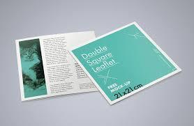 double square leaflet free psd mockup pixlov