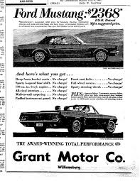 ford mustang ads 1964 mustang newspaper history