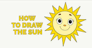 how to draw a smiling sun really easy drawing guides