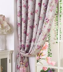 Thermal Back Curtains Energy Saving Bedroom Thermal Back Curtains With Flower Patterns