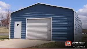 Single Car Garage Single Car Metal Garage 22 U0027 X 31 U0027 Shop Metal Buildings Online