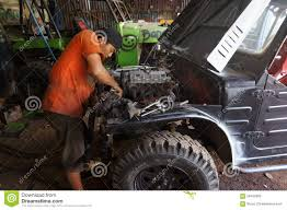 jeep indonesia repairing jeep editorial stock photo image of being 56430383