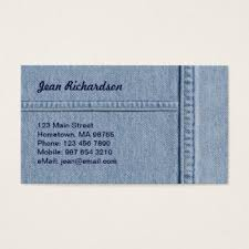 Hometown Business Card Design Jeans Business Cards U0026 Templates Zazzle