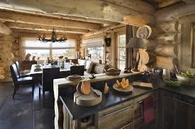 cuisine chalet bois chalets nordika constructeur bois à bolquère pyrénées 2000 font