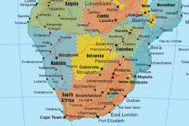 Pretoria South Africa Map by Africa Wall Map Geopolitical Deluxe Edition