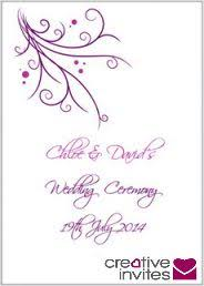wedding booklet templates best 25 wedding ceremony booklet templates ideas on