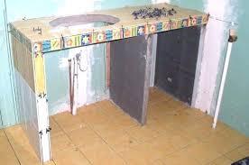 faire un plan de travail cuisine meuble de salle de bain avec plan de travail