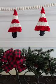 knit christmas knitted christmas tree banner savvy apron