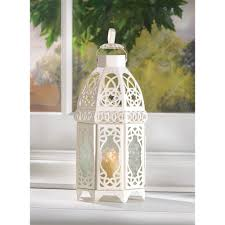 10 creamy white lattice candle lantern wedding table decor
