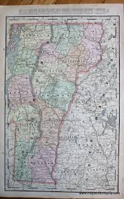 Map Of Vermont And New Hampshire Vermont Verso Map Of The White Mountains New Hampshire And