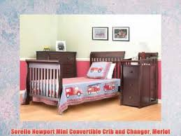 Mini Convertible Cribs Sorelle Newport Mini Convertible Crib And Changer Merlot