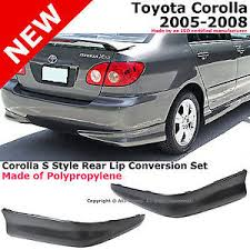 toyota corolla 08 toyota corolla 05 08 s style rear l r lower kit lip spoiler
